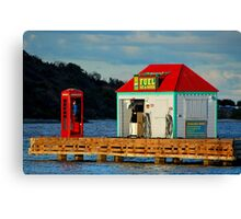 The fuel dock Canvas Print