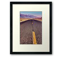 The Long Road Framed Print