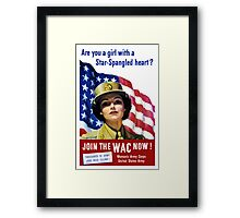 Join The WAC Now -- Army Recruiting Framed Print