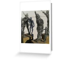 wire sculpture circus parade study - daumier Greeting Card
