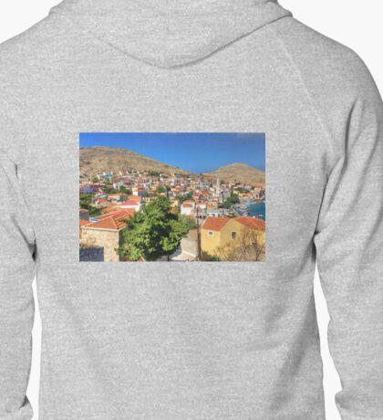 Nimborio Village and Bay Zipped Hoodie