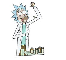 Rick and Morty-- Rick Pills Photographic Print
