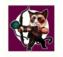HAWKEYE CAT Art Print