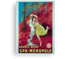 Leonetto Cappiello Affiche Source Reine Canvas Print