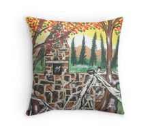 The Old Foundation Throw Pillow