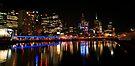 Melbourne skyline by night by EblePhilippe