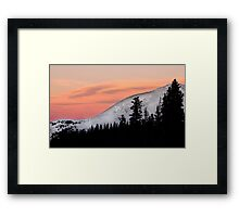 Sunset on the Ten Mile Range, Summit County, Colorado Framed Print