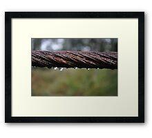 Wet Wire Framed Print