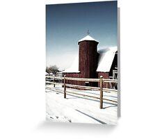 Country Snowfall Greeting Card