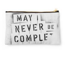 NEVER BE COMPLF Studio Pouch