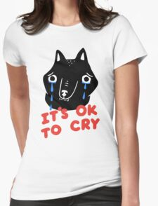 Cry, Wolf Womens Fitted T-Shirt