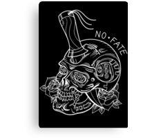 Terminator T800 Skull Tattoo Flash B&W Canvas Print