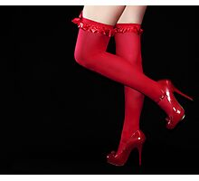 Red Stockings01 Photographic Print
