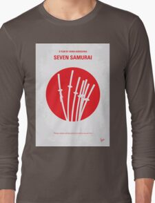 No200 My The Seven Samurai minimal movie poster Long Sleeve T-Shirt