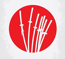 No200 My The Seven Samurai minimal movie poster by JinYong
