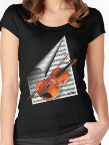 For the love of Music.. Women's Fitted Scoop T-Shirt