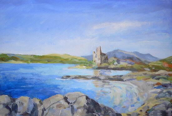 Ardvreck Castle by Peter Lusby Taylor