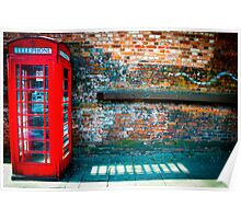 great british red telephone box Poster