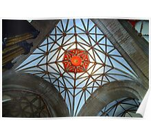 Spiders web in Tewkesbury Cathedral Poster