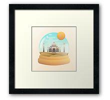 Sand Globe Framed Print
