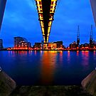 London Night Bridge - Royal Victoria Dock by DavidGutierrez