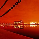 London Red Night - Excel Marina in Docklands by DavidGutierrez