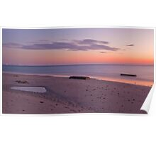 Sunset Over West Beach, South Australia Poster
