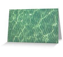 Sandy Ripples in shallow waters Greeting Card