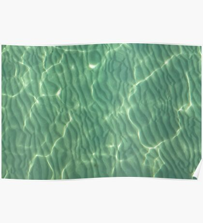 Sandy Ripples in shallow waters Poster