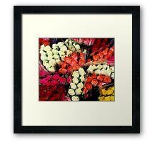 Flowers from Jersey... Framed Print