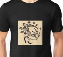 Scythian Deer Tattoo Ink Drawing inspired by The Ice Princess by Sheridon Rayment Unisex T-Shirt