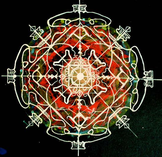 Mandala of fearlessness by abigail abbott