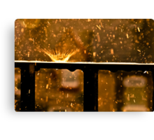 The Raindrop Explodes Canvas Print