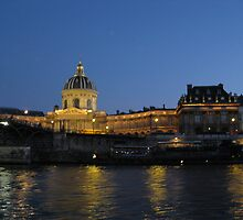 Paris from river Seine at night. by machka