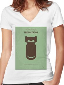 No212 My The Dictator minimal movie poster Women's Fitted V-Neck T-Shirt