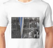 Carousel with a lovely striped curtain Unisex T-Shirt