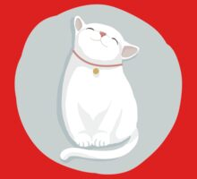 Cat White One Piece - Short Sleeve