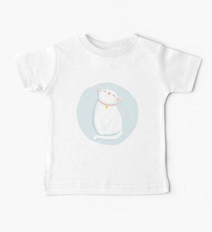 Cat White Baby Tee