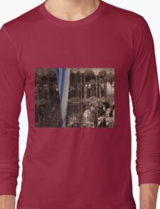 Carousel with a vintage/sepia tone Long Sleeve T-Shirt