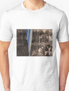 Carousel with a vintage/sepia tone Unisex T-Shirt