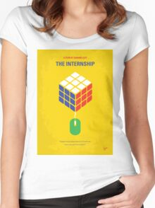 No215 My The Internship minimal movie poster Women's Fitted Scoop T-Shirt