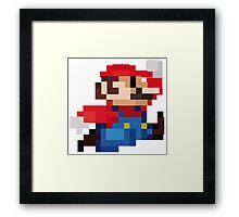 Mario 8 Bits Framed Print