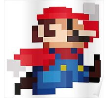 Mario 8 Bits Poster