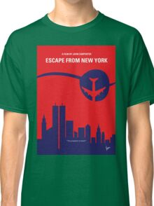 No219 My Escape from New York minimal movie poster Classic T-Shirt