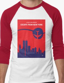 No219 My Escape from New York minimal movie poster Men's Baseball ¾ T-Shirt