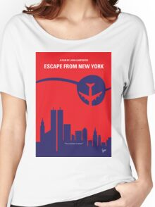 No219 My Escape from New York minimal movie poster Women's Relaxed Fit T-Shirt