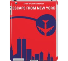 No219 My Escape from New York minimal movie poster iPad Case/Skin