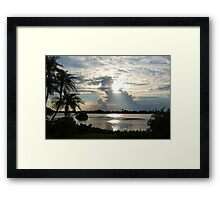 The silver zone Framed Print