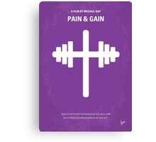 No221 My Pain and Gain minimal movie poster Canvas Print
