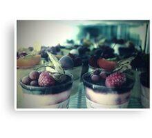 dessert in Paris  Canvas Print